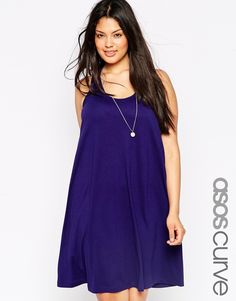 ASOS CURVE Swing Vest Dress with Twist Back