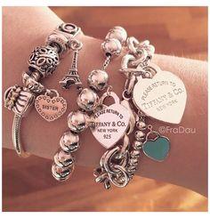 Tiffany Jewelry, Tiffany Bracelets, Bracelet Pandora Charms, Pandora Jewelry, Pandora Pandora, Pandora Rings, Cute Jewelry, Charm Jewelry, Jewelry Accessories
