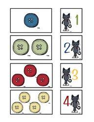Pete the Cat Button Activity  Printable