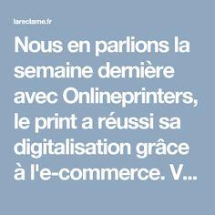 Nous en parlions la semaine dernière avec Onlineprinters, le print a réussi sa digitalisation grâce à l'e-commerce. Voilà pour la transformation. Mais quid des créations ? Avec une impression plus accessible que jamais, la créativité …