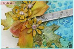 Tuesday Tutorial: Melt Art Tissue Wrap Jeweled Leaves