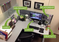 Attrayant Zen Your Workspace. Cubicle DecorationsCubicle IdeasDecorating ...
