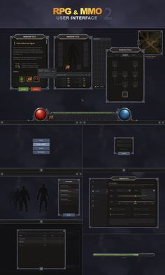 RPG and MMO UI 2 by Evil-S | Create your own roleplaying game books w/ RPG Bard: www.rpgbard.com | Dungeons and Dragons Pathfinder RPG Warhammer 40k Fantasy Star Wars Exalted World of Darkness Dragon Age 13th Age Iron Kingdoms Fate Core Savage Worlds Shadowrun Call of Cthulhu Basic Role Playing Traveller Battletech The One Ring d20 Modern DND ADND PFRPG W40K WFRP COC BRP DCC TOR VTM GURPS science fiction sci-fi horror art