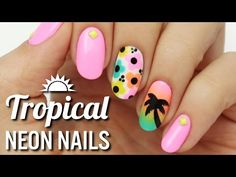 Learn How To Make This Tropical, Neon Manicure Just In Time For Summer! SO Cute!