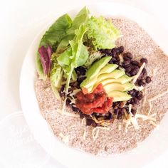 10 min Mexican style wrap , low gluten, vegetarian and vegan option