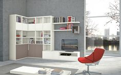 furniture, Interior Wall Units Design Ideas With Living Room Bookshelves Design Ideas With White Furniture Ideas With White Small Wall Shelf. Living Room Wall Units, Bookshelves In Living Room, Living Room Cabinets, Chic Living Room, Living Room Modern, Home And Living, Living Room Designs, Living Room Furniture, Living Room Decor