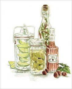 Raspberries, Olives and Limes (Consuelo Gamboa)