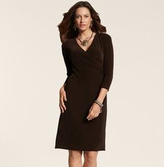 Dress up the Aravon Elizabeth shoes with this faux wrap dress. This classy dress is made with fabric that eliminates wrinkles for easy care. (via @A Whole Lotta Love Chico's www.chicos.com)