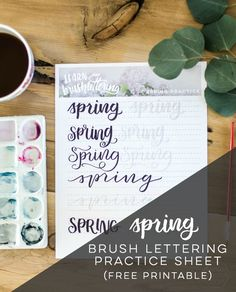 Spring hand letterin