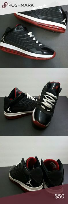 Micheal Jordan size 10.5 Men's used Michael Jordan  black and red  Worn but in great condition.  Authentic without box My nephew donated them to my closet Will try and help if you have ? Nike Shoes Sneakers