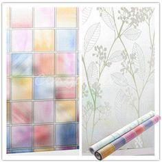 45cm * 2m Frosted Privacy Glass Sticker Window Film Wintersweet / Lattice Decor  #Unbranded