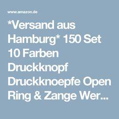 *Versand aus Hamburg* 150 Set 10 Farben Druckknopf Druckknoepfe Open Ring & Zange Werkzeug DIY Basteln: Amazon.de: Küche & Haushalt