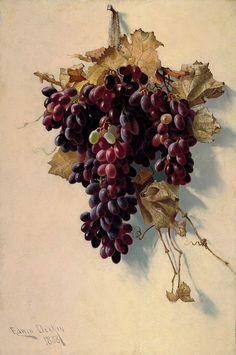 Edwin Deakin, Still Life with Grapes, 1888 (via).