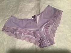 NWT Victoria's Secret Very Sexy Lavender Shiny Velvet Panty Cheeky Panty with Back cutouts. Lingerie Outfits, Pretty Lingerie, Beautiful Lingerie, Lingerie Sleepwear, Bra Lingerie, Wedding Night Lingerie, Lace Dress Styles, Victoria Secret Panties, Lingerie Pictures