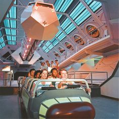 The Space Port Launch, Space Mountain, Disneyland