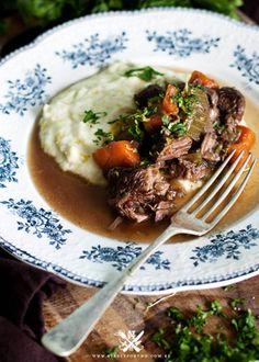 Hearty Beef Casserole w/ Potato & Leek Mash