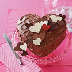 Chocolate Valentine Cake #recipe #valentinesday