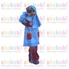 Red & Blue Girl Moslem Dress. Detail and order pls visit http://www.shakuki.com/1718,2407-1743-red-blue-girl-moslem-dress.html