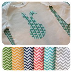 Easter baby outfit -  Chevron Easter Bunny Onesie or T-shirt - Baby Girl or Boy  Great outfit for First Easter