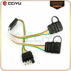 X-Haibei 7 Way Trailer Plug Inline Cord Heavy Duty 8 Foot Wire Harness Light Plug Connector RV Towing Cable