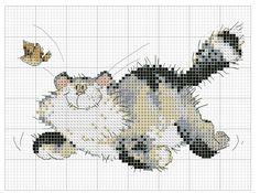 Kreuzstich Cross Stitch Love, Cross Stitch Animals, Cross Stitch Kits, Cross Stitch Charts, Cat Cross Stitches, Cross Stitching, Cross Stitch Embroidery, Margaret Sherry, Fair Isle Knitting Patterns