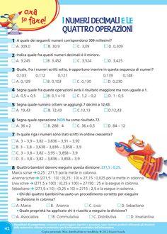 il mio super quaderno 5 matematica Montessori, Classroom, Coding, Math, School, Tips, Geography, Activities, Class Room