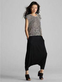 NWT Eileen Fisher Black Jersey Harem Pants XS, Medium, Large, XLarge, 3X