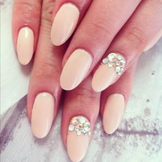 nail design...would want a different look and color, but I LOVE the rhinestones!