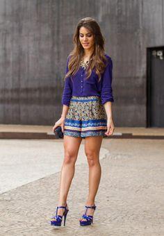 Asos shorts + Zara top