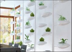 Wall-Mounted Modular Flowerpots - The Urbio Vertical Garden is Perfect for Green-Thumbed Urbanites (GALLERY)