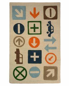 transportation signs rug
