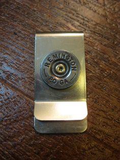 20 gauge/12 gauge Shotgun Shell Money Clip by OnceFiredJewelry