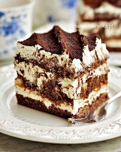 Pyszne Ciasto Kukułka - PRZEPIS - Mała Cukierenka Polish Desserts, Polish Recipes, Cookie Desserts, Sweet Desserts, Sweet Recipes, Cheesecake Recipes, Dessert Recipes, Pastry Cake, Sweet Cakes
