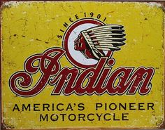 fa3e311f A Selection of Classic Retro Indian Motorcycle Signs: Authentic vintage  Indian Motorcycle signs are rare and increasingly difficult to find --.