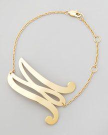 Y1D00 Jennifer Zeuner Swirly Initial Bracelet