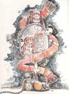 Une magnifique composition réalisée par Imane ! J'en suis tombée amoureuse ♥ - Christelle Science Fiction, Tv Show Games, Illustrations, Fantasy Books, Fanart, Book Lovers, Book Worms, Book Art, Wonderland