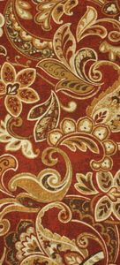 Cashel Garnet: Indoor/Outdoor #Fabric #red #yellow #gold #floral http://www.replacementcushionsonline.com