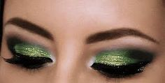 st patrick's day eye makeup clover - Google Search