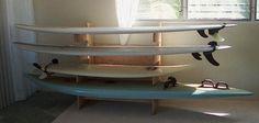 """Plyrack"" Plywood Surfboard Rack - Kevin Bartlett"
