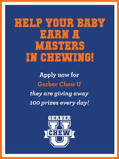 You have a chance to win one of 100 prizes Gerber® is giving away each day! Crazy Kids, Happy Family, Baby Food Recipes, Parenting Hacks, Something To Do, Families, Blogging, Parents, How To Apply
