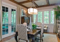 Dining Room   **mental note- would like to use coral, navy blue & white color scheme**