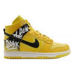 e78311fb8503 High Quality Lemon Nike Dunk Do The Dew High Tops Mens Shoes Cheap Sale