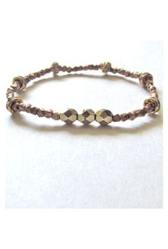 Layering perfection. Bijouterie Pyrite Rose Bracelet in Rose Gold