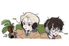 Harry Potter Fan Art, Harry Potter Kiss, Harry Potter Draco Malfoy, Harry Potter Drawings, Harry Potter Anime, Harry Potter Books, Harry Potter Fandom, Harry Potter Memes, Drarry Fanart