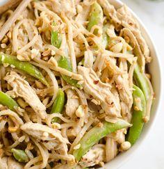 Pressure Cooker Thai Peanut Chicken & Noodles