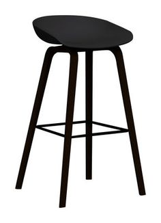 About a Stool Black & black stained wood base | Stool Hay - Design furniture and decoration with Made in Design