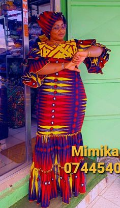 African Traditional Dresses, Straight Dress, African Fashion Dresses, Ankara Styles, Gd, Womens Fashion, How To Wear, Clothes, African Attire
