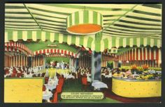 NEW YORK POSTCARD: INTERIOR OF THE SCANDINAVIAN ICELAND RESTAURANT, NEW YORK CIT