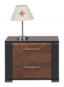 Bedside Cabinet Bedroom Drawers Night Stand Modern Furniture White Oak Dark Nepo