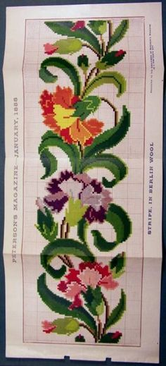 Low Cost Flowers Shipping And Delivery - An Anniversary Reward Without A Significant Selling Price Tag Berlin Woolwork Chart Mini Cross Stitch, Cross Stitch Needles, Cross Stitch Borders, Cross Stitch Flowers, Cross Stitch Designs, Cross Stitching, Cross Stitch Patterns, Rose Embroidery, Cross Stitch Embroidery